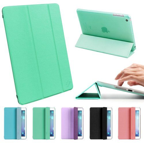 ESR Candy Series iPad Air Case iPad 5 Case Slim Lightweight Smart Case Cover with multi-function as Keyboard Stand & Face time/Movie View Stand (Mint Green) ESR,http://www.amazon.com/dp/B00GDAGKNM/ref=cm_sw_r_pi_dp_ac8ytb1SPJ2FNJSE