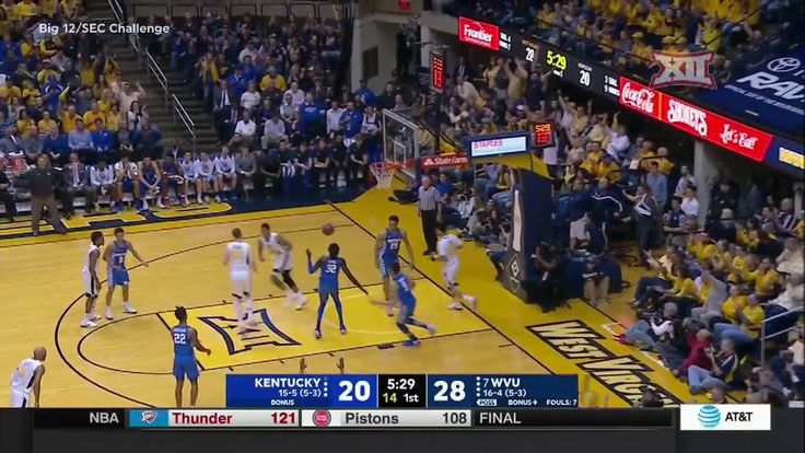 West Virginia vs Kentucky Men's Basketball Highlights