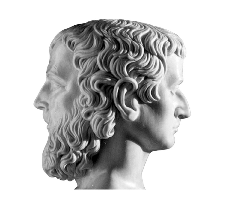 In the Roman pantheon, Janus is the two-faced god of beginnings, limits, doors, gateways, and departure. Unlike the other Greco-Roman deities, Janus was not imported from Greece to Rome.