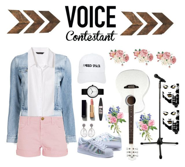 """""""Untitled #95"""" by littlelook on Polyvore featuring Banana Republic, Current/Elliott, 3x1, Luna, Chanel, Maybelline and NASASEASONS"""