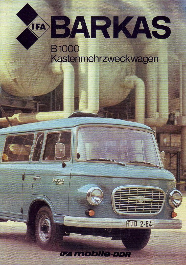 "Barkas, ""the"" East German van. The production capacity of the GDR industry was limited. Goods like automobiles for private use were produced only in small numbers. Thus, the streets were filled with ""dinosaur"" cars."
