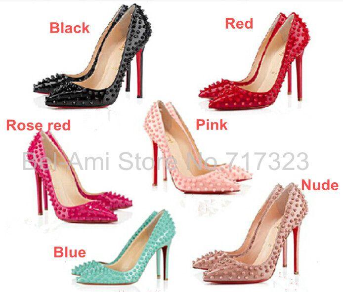 Aliexpress.com: Comprar Envío gratis women 's clásico fondo rojo señaló zapatos de tacón alto, oficina de señora sexy 10 CM tacones altos, fiesta EUR 35 41 de calzado favor del partido fiable proveedores en Bel-Ami