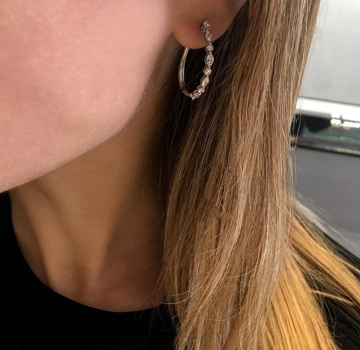 These oblong hoops are everything! 💞👌