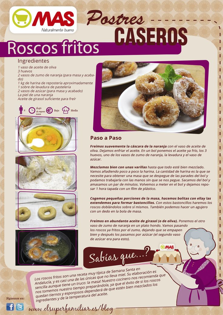Receta de roscos fritos para Semana Santa - Supermercados MAS