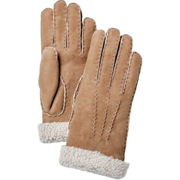 Hestra Sheepskin Glove (675 BRL) ❤ liked on Polyvore featuring accessories, gloves, hestra gloves, hestra, sports gloves, sport gloves and sheepskin gloves