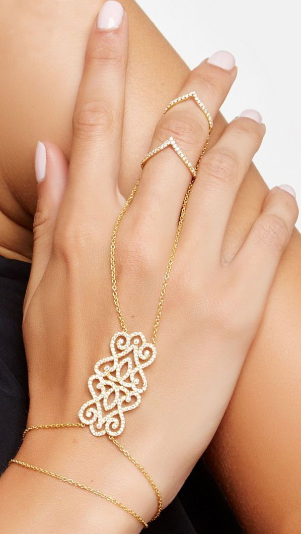 Gold Ring And Wrist Chain Together