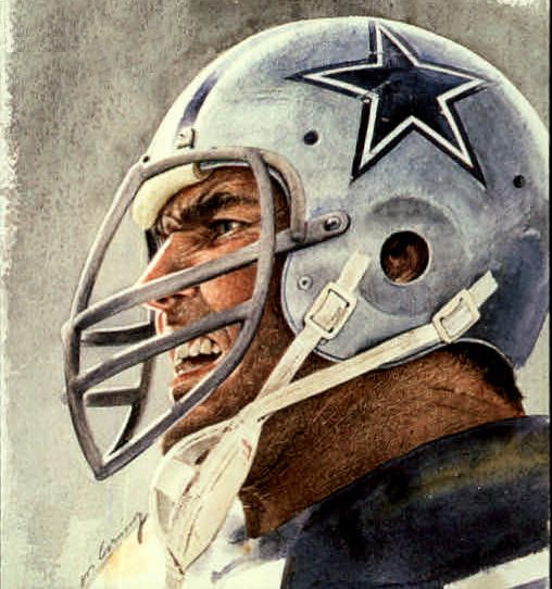 Chuck Howley, Cowboys by Merv Corning, 1990.