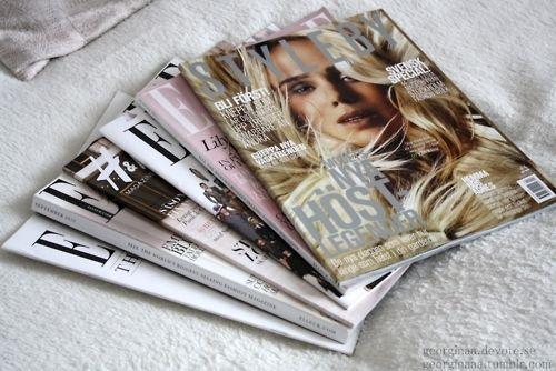 Vogue magazines.