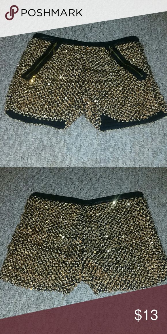Shorts Cute! Gold sequin shorts. Perfect for parties. Shorts