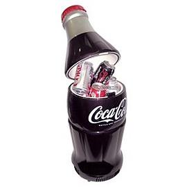 Coca-Cola bottle fridge.  So cool!