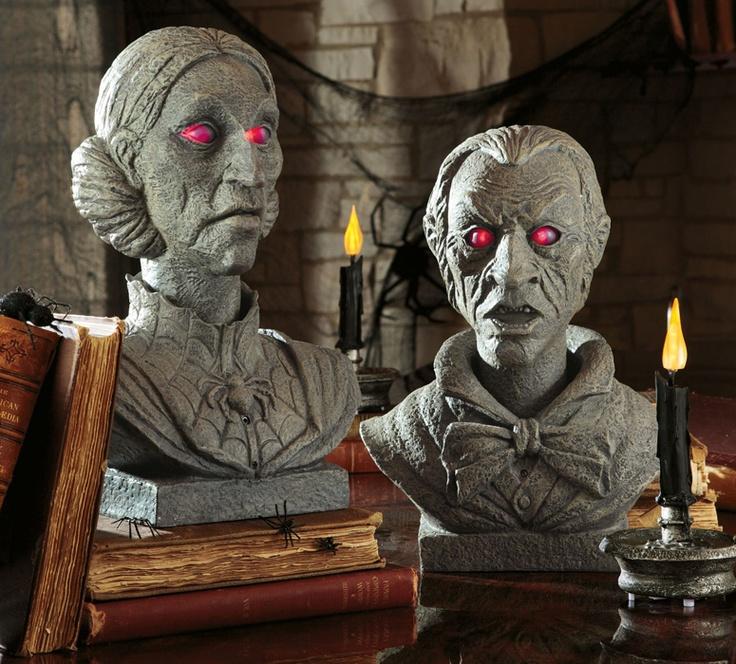 talking halloween busts