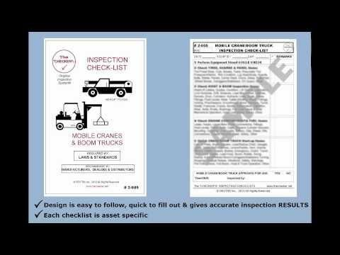 """""""Mobile Crane & Boom Truck Inspection Checklist #2-005 The Checker"""" http://hubs.ly/y09VKh0 by @youtube"""