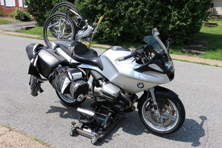 Golf bag mount for BMW r1100s by Paul Campagna