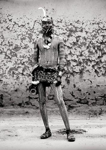 Eric Lafforgue  www.ericlafforgue.com Hamar man with body painting, Turmi Ethiopia