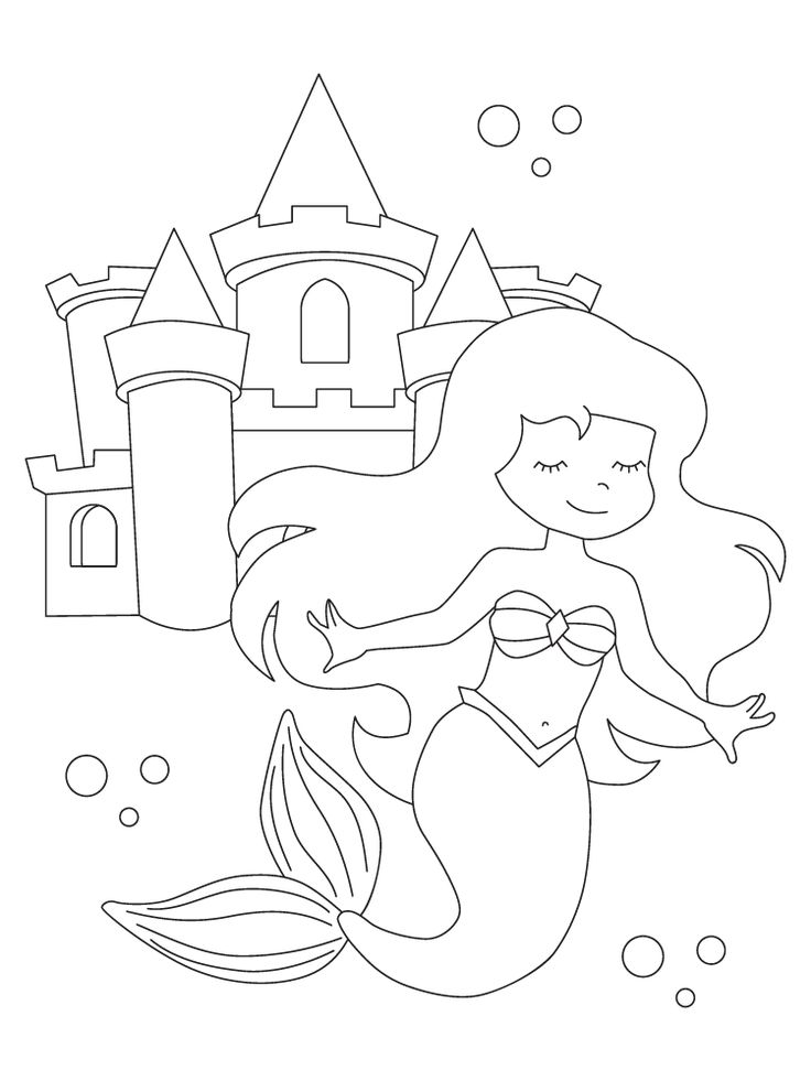 Printable Fall Coloring Pages Mermaid coloring pages