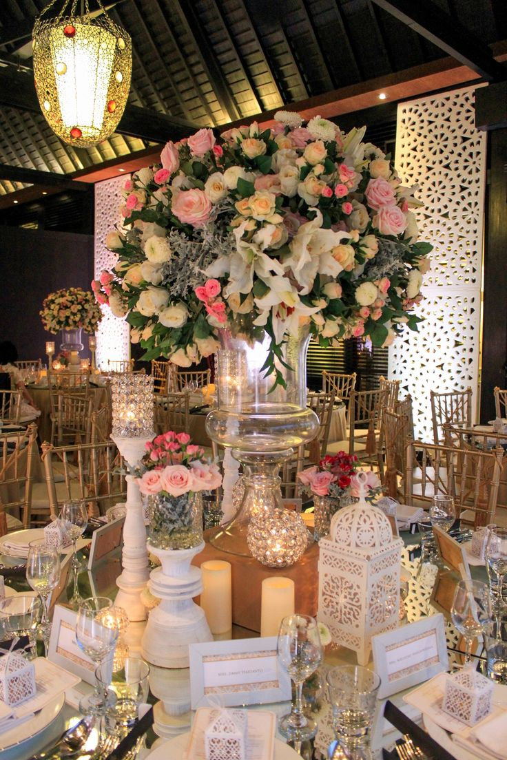 Wedding Dinner at The Royal Santrian  Book your dream wedding with us at www.theroyalsantrianwedding.com Email : event@theroyalsantrian.com  The Royal Santrian Luxury Beach Villa , Tanjung Benoa Bali