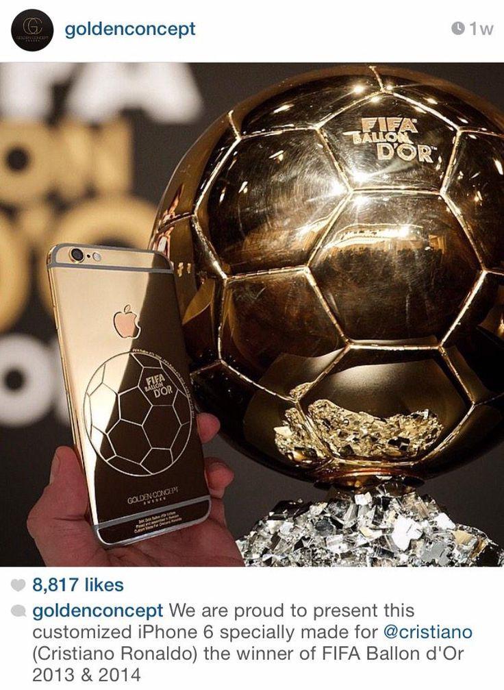 Cristiano's customized iPhone 6