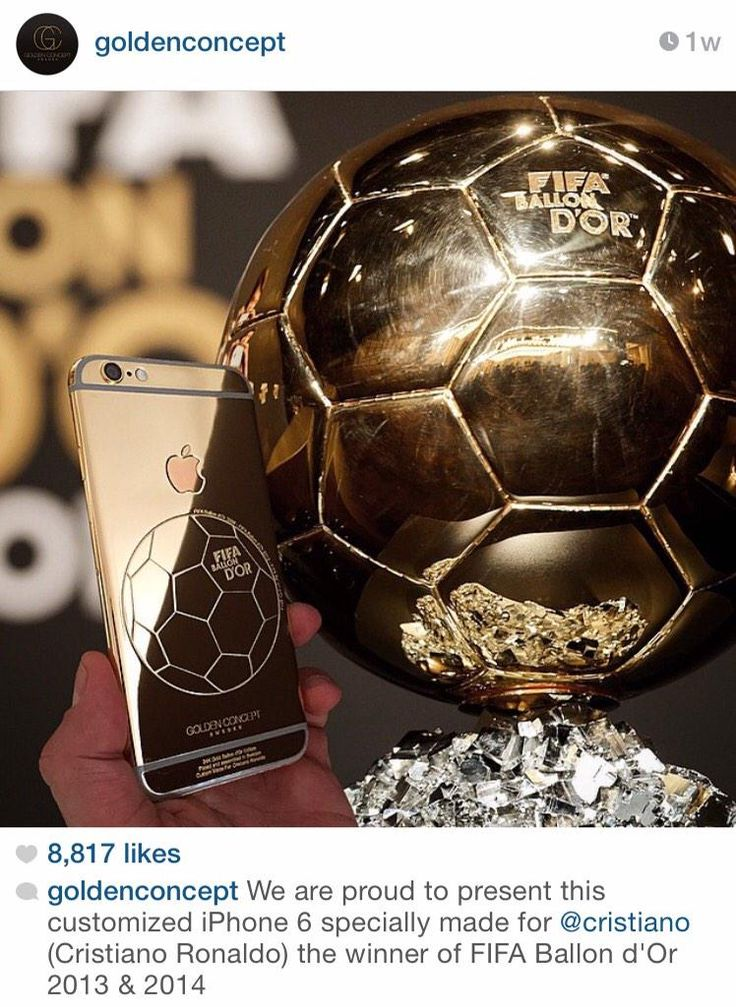 Cristiano's customized iPhone 6