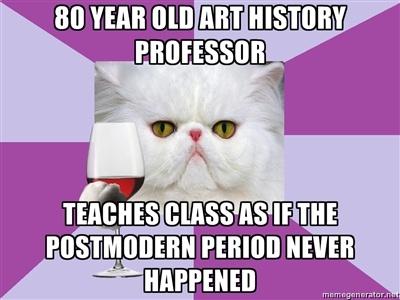Look, it's Art History Major Cat!