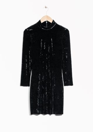 & Other Stories | Turtleneck Velvet Dress