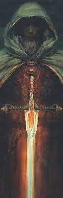 Allanon with the Sword of Shannara.