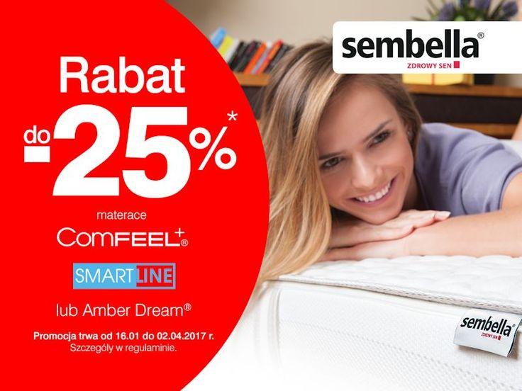 Do 2 kwietnia zapraszamy na promocję materaców Sembella - wyśpij się zdrowo, a gwarantujemy, że Twój dzień będzie udany! http://www.meble-nowrot.pl/promocje http://www.nowiny.pl/firma/sklep-meblowy-daniela-nowrot-100003848.html