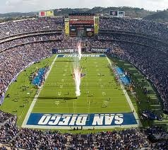 Qualcomm Stadium, Home of my Team, San Diego Chargers!! Go Bolts!  I'll see you in September!!!!