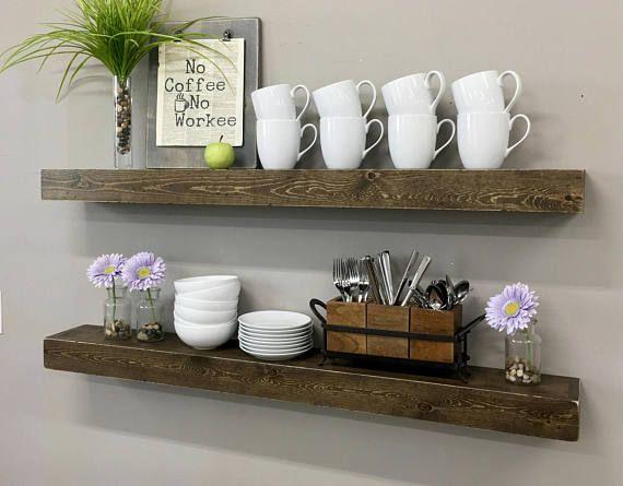 Emily Floating Shelf / Modern Rustic Shelf / Ledge Shelf /