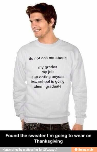 The college student sweater