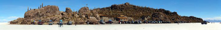 Isla Incahuasi, Salar de Uyuni (world's largest salt flat), Bolivia