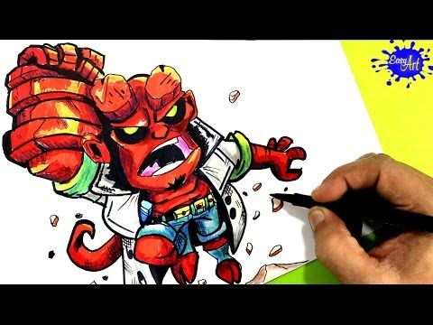 How to paint Hellboy Step by Step / Como pintar a Hellboy  paso a paso / Easy art YouTube