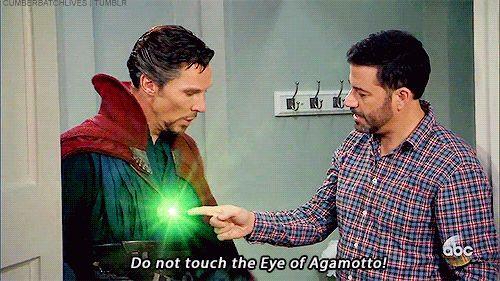 Cumberbatch Lives   Jimmy Kimmel Hires Dr. Strange for a Birthday...