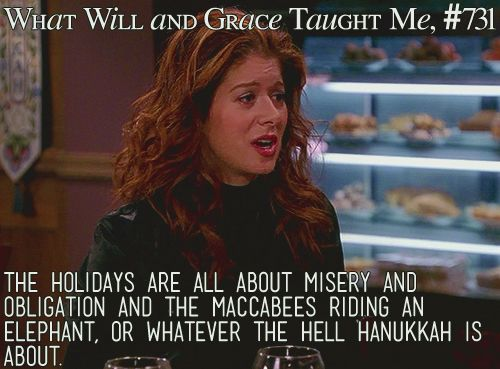 Debra Messing: Fanilow was my favorite episode in Season Six. Since I was very pregnant at that point, it was a challenge for the writers to find new things, more verbal ways for me to be funny. I never realized how physical Grace was until I couldn't do those things anymore.