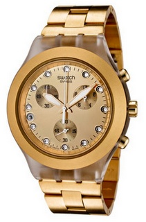 Oversized gold watch from Swatch...so IN right now!