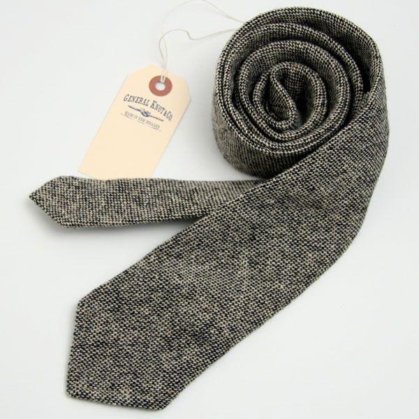 Deadstock Lambswool Hopsacking Necktie - General Knot