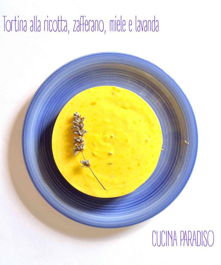 Tortina alla ricotta, zafferano, miele e lavanda #cucinaparadiso #ricotta #zafferano #lavanda saffran #lavander #miele #honey