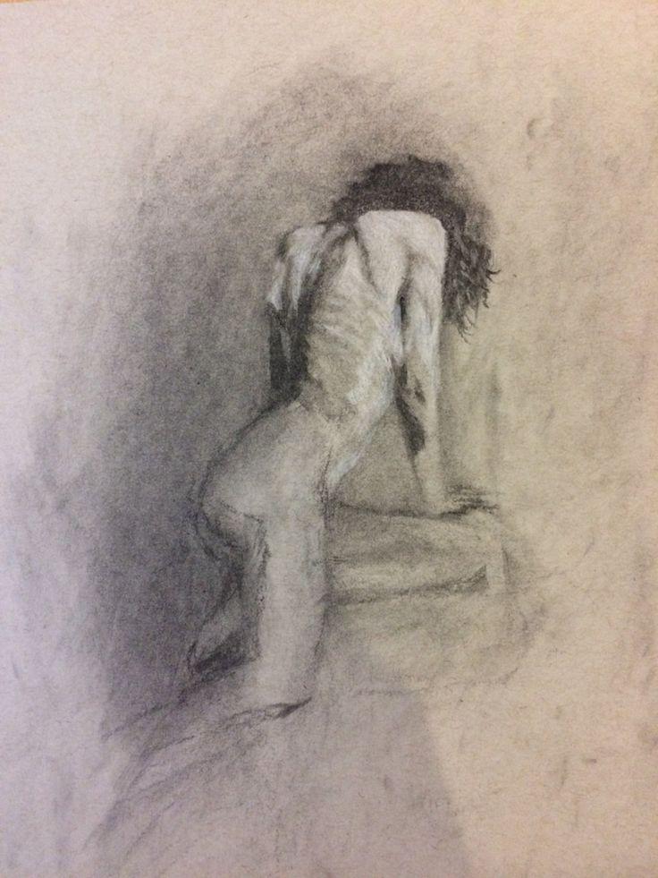 Charcoal drawing by Vincent Joe Dango