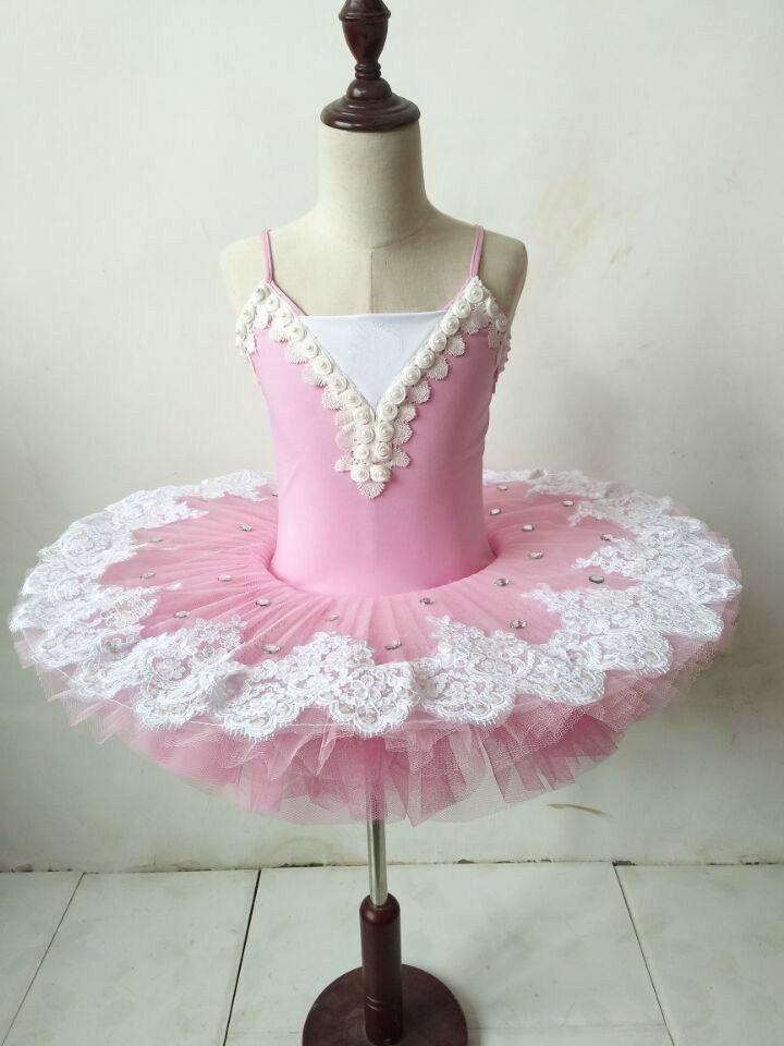 66eb5cc337 Adulto ballet profissional tutu Rosa panqueca tutu criança roupas de balé  para crianças mulher trajes de