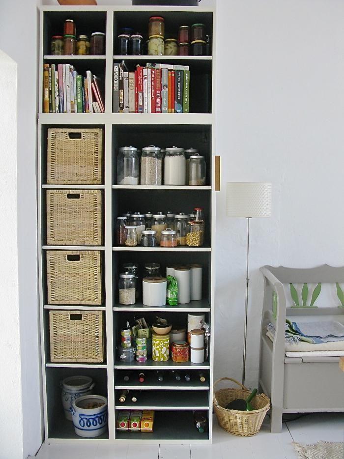 Katrins Ikea hack kitchen shelves long view: Remodelista