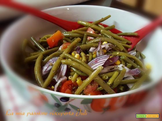 Insalata di fagiolini e mais  #ricette #food #recipes