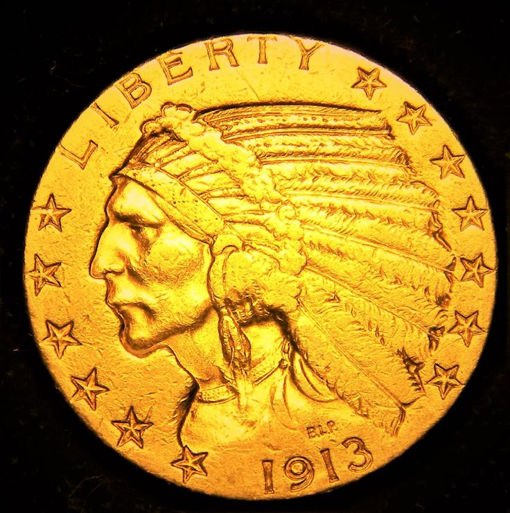Lot: 1913 S $5 Dollar Gold Half Eagle Indian, Lot Number: 0180, Starting Bid: $1, Auctioneer: GSAuctions, Auction: Rare US Gold and Silver Coins & Medals, Date: May 28th, 2017 CEST