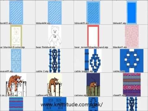 DesignaKnit 8 Stitch Designer Tutorial - Designing A Baby Blanket