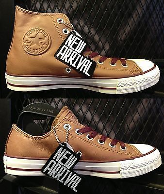 New 2013 Converse All Star Chuck Taylor Brown Leather HI Low Men Shoes US3-11