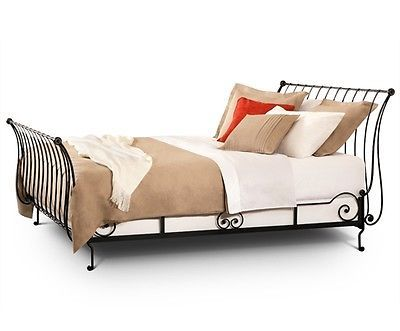 Paris Sleigh Bed Queen,Hand Forged Wrought Iron by Charles P. Rogers MSRP $2,500