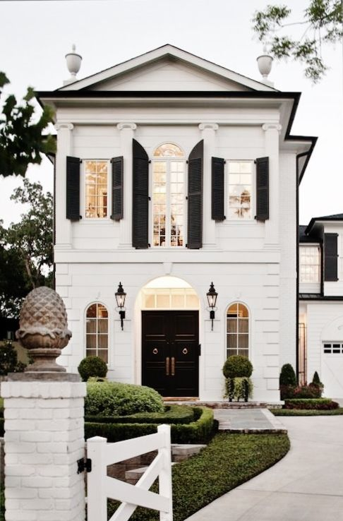 453 best white houses images on Pinterest | Facades, House beautiful ...