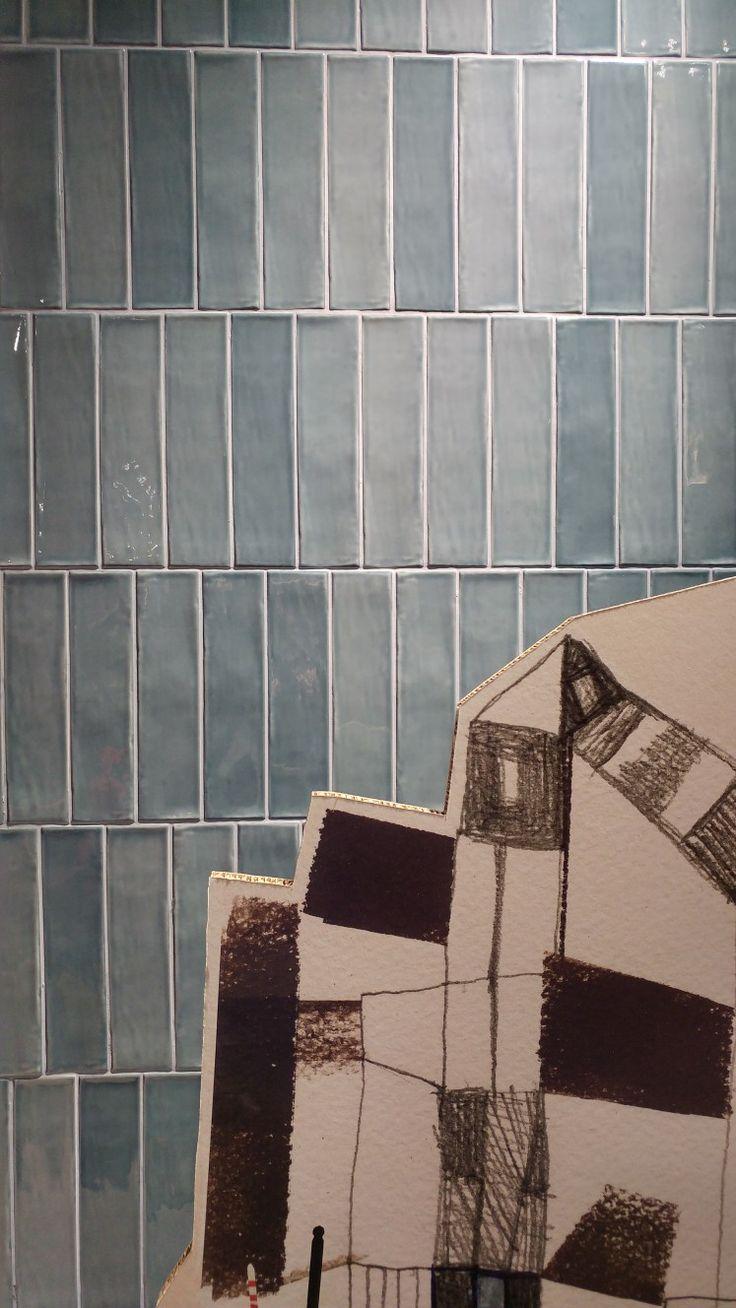 Collezione Fragments di Ceramiche Piemme, design Pierre Charpin, nella versione effetto maiolica, #BreraDisignDistrict #Brera #Fuorisalone2017 #MCaroundSaloni