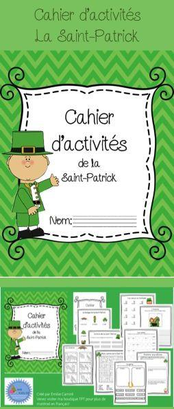 Cahier d'activités sur la Saint-Patrick/ French St Patrick's day printable