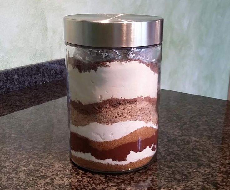 Rezept Backmischung im Glas - Schokoladen-Brownies von c52834 - Rezept der Kategorie Backen süß