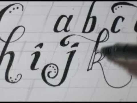 Cursive Lower Case Letters Fancy Cool Easy Step By Step How To Draw Letters; by OvernightArtist