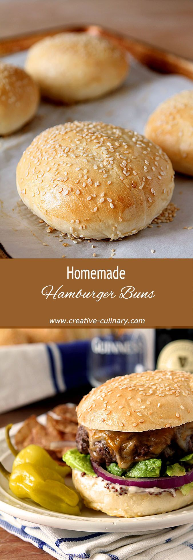 Homemade Hamburger Buns if you want that special burger to go over the top! via @creativculinary